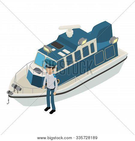 Warship Icon. Isometric Illustration Of Warship Vector Icon For Web