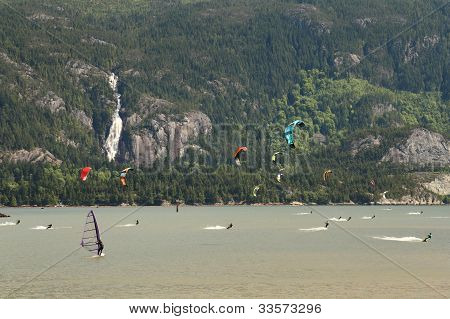 Kiteboarding, Squamish, British Columbia