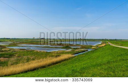 Schakerloopolder In Tholen, Beautiful Nature Reserve In Zeeland, The Netherlands