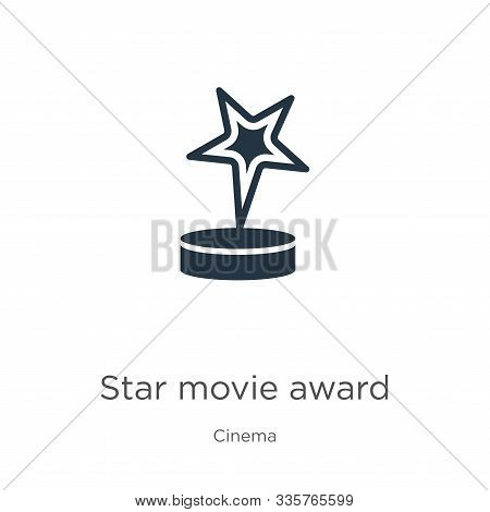 Star Movie Award Icon Vector. Trendy Flat Star Movie Award Icon From Cinema Collection Isolated On W