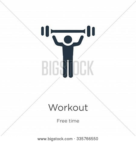 Workout Icon Vector. Trendy Flat Workout Icon From Free Time Collection Isolated On White Background