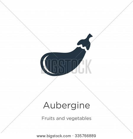 Aubergine Icon Vector. Trendy Flat Aubergine Icon From Fruits And Vegetables Collection Isolated On