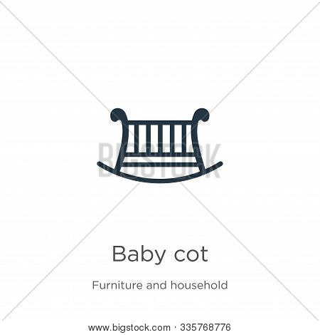 Baby Cot Icon Vector. Trendy Flat Baby Cot Icon From Furniture And Household Collection Isolated On