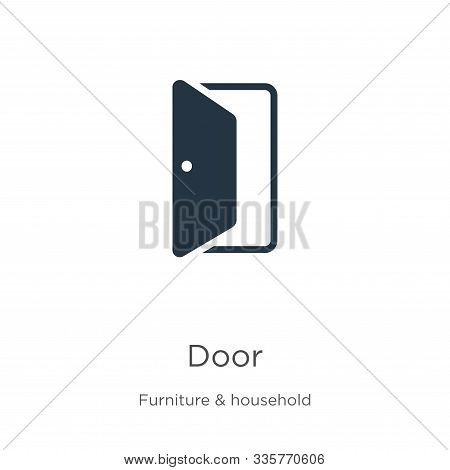 Door Icon Vector. Trendy Flat Door Icon From Furniture Collection Isolated On White Background. Vect