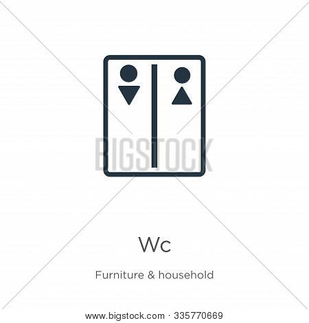 Wc Icon Vector. Trendy Flat Wc Icon From Furniture Collection Isolated On White Background. Vector I