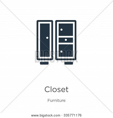 Closet Icon Vector. Trendy Flat Closet Icon From Furniture Collection Isolated On White Background.