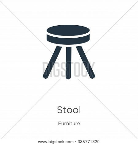 Stool Icon Vector. Trendy Flat Stool Icon From Furniture Collection Isolated On White Background. Ve