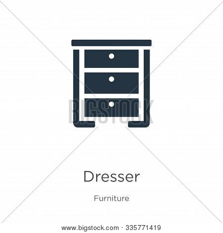 Dresser Icon Vector. Trendy Flat Dresser Icon From Furniture Collection Isolated On White Background