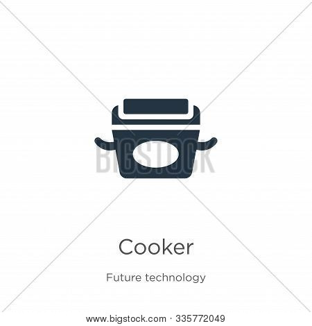 Cooker Icon Vector. Trendy Flat Cooker Icon From Future Technology Collection Isolated On White Back