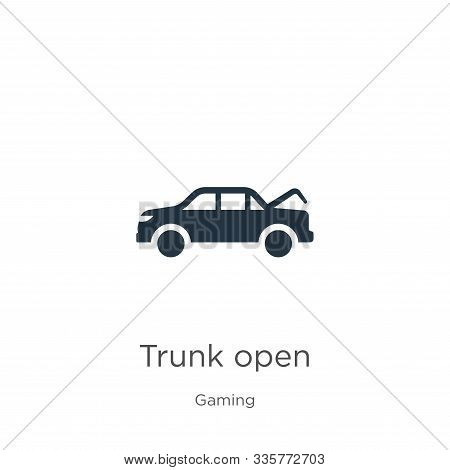 Trunk Open Icon Vector. Trendy Flat Trunk Open Icon From Gaming Collection Isolated On White Backgro