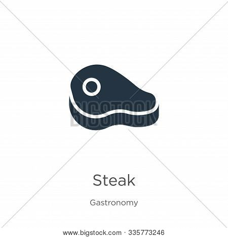 Steak Icon Vector. Trendy Flat Steak Icon From Gastronomy Collection Isolated On White Background. V