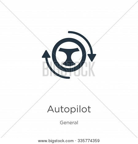 Autopilot Icon Vector. Trendy Flat Autopilot Icon From General Collection Isolated On White Backgrou