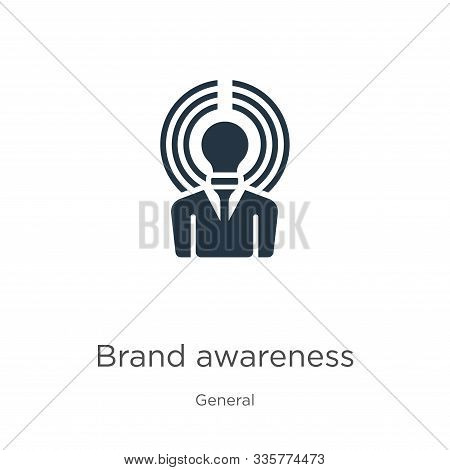 Brand Awareness Icon Vector. Trendy Flat Brand Awareness Icon From General Collection Isolated On Wh