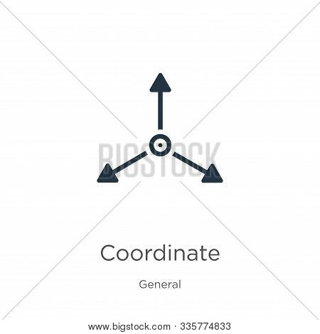 Coordinate Icon Vector. Trendy Flat Coordinate Icon From General Collection Isolated On White Backgr