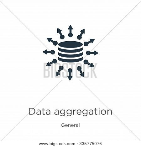 Data Aggregation Icon Vector. Trendy Flat Data Aggregation Icon From General Collection Isolated On