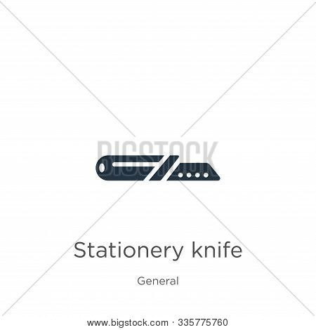 Stationery Knife Icon Vector. Trendy Flat Stationery Knife Icon From General Collection Isolated On