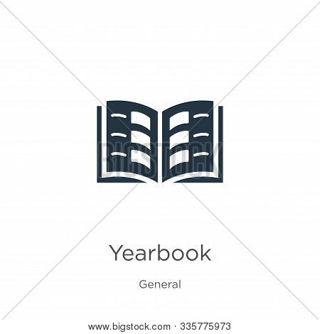 Yearbook Icon Vector. Trendy Flat Yearbook Icon From General Collection Isolated On White Background