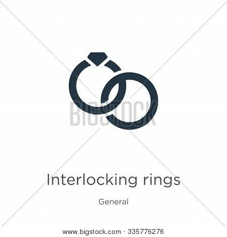 Interlocking Rings Icon Vector. Trendy Flat Interlocking Rings Icon From General Collection Isolated