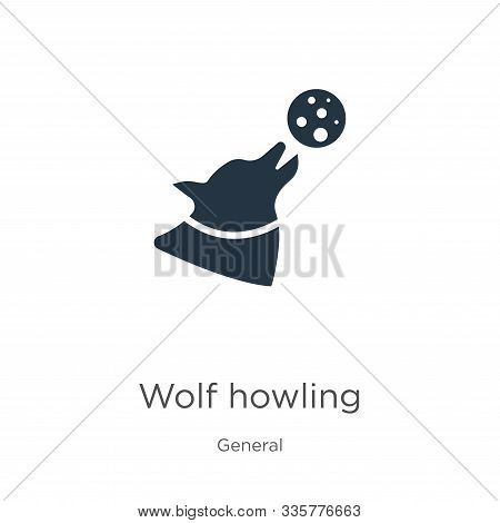 Wolf Howling Icon Vector. Trendy Flat Wolf Howling Icon From General Collection Isolated On White Ba