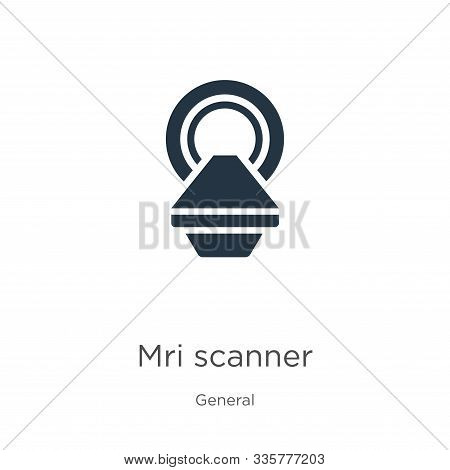 Mri Scanner Icon Vector. Trendy Flat Mri Scanner Icon From General Collection Isolated On White Back