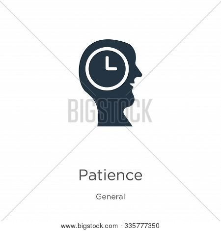 Patience Icon Vector. Trendy Flat Patience Icon From General Collection Isolated On White Background