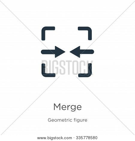 Merge Icon Vector. Trendy Flat Merge Icon From Geometric Figure Collection Isolated On White Backgro