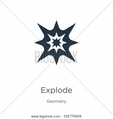 Explode Icon Vector. Trendy Flat Explode Icon From Geometry Collection Isolated On White Background.