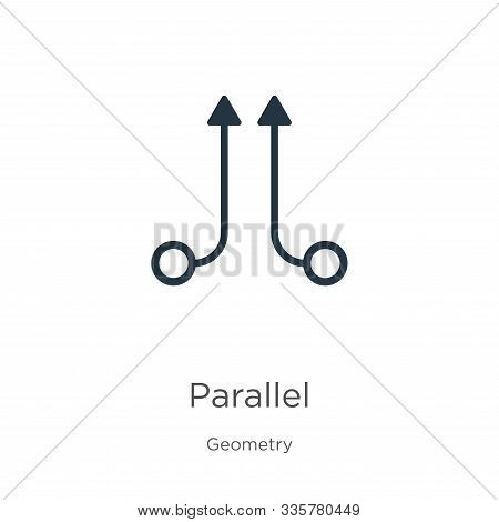 Parallel Icon Vector. Trendy Flat Parallel Icon From Geometry Collection Isolated On White Backgroun