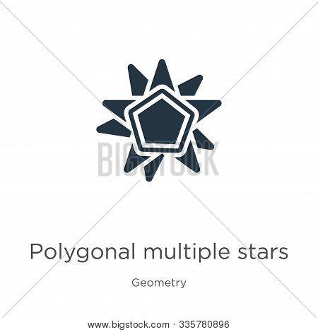 Polygonal Multiple Stars Icon Vector. Trendy Flat Polygonal Multiple Stars Icon From Geometry Collec