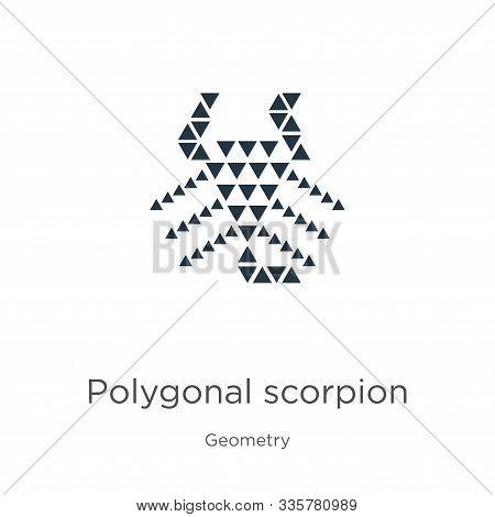 Polygonal Scorpion Icon Vector. Trendy Flat Polygonal Scorpion Icon From Geometry Collection Isolate