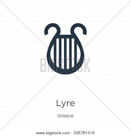 Lyre Icon Vector. Trendy Flat Lyre Icon From Greece Collection Isolated On White Background. Vector