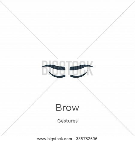 Brow Icon Vector. Trendy Flat Brow Icon From Gestures Collection Isolated On White Background. Vecto