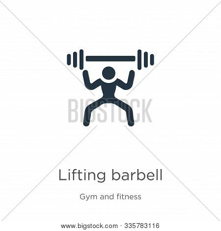 Lifting Barbell Icon Vector. Trendy Flat Lifting Barbell Icon From Gym And Fitness Collection Isolat