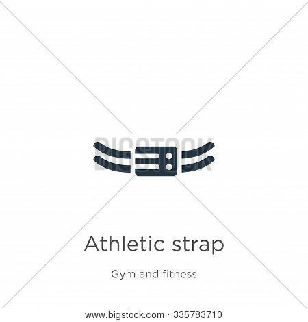 Athletic Strap Icon Vector. Trendy Flat Athletic Strap Icon From Gym And Fitness Collection Isolated