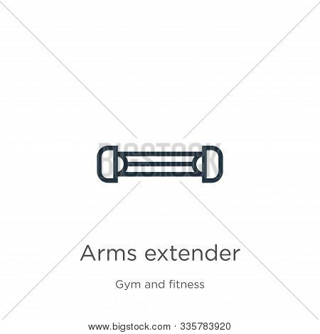 Arms Extender Icon Vector. Trendy Flat Arms Extender Icon From Gym And Fitness Collection Isolated O