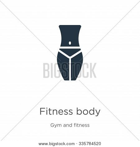 Fitness Body Icon Vector. Trendy Flat Fitness Body Icon From Gym And Fitness Collection Isolated On