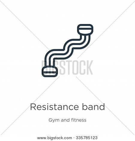 Resistance Band Icon Vector. Trendy Flat Resistance Band Icon From Gym And Fitness Collection Isolat