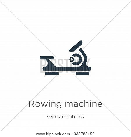 Rowing Machine Icon Vector. Trendy Flat Rowing Machine Icon From Gym And Fitness Collection Isolated