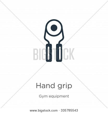 Hand Grip Icon Vector. Trendy Flat Hand Grip Icon From Gym Equipment Collection Isolated On White Ba