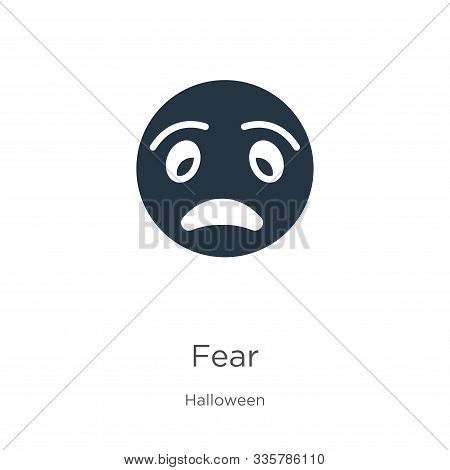 Fear Icon Vector. Trendy Flat Fear Icon From Halloween Collection Isolated On White Background. Vect