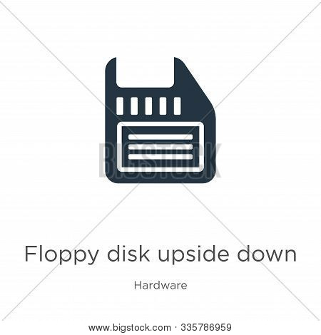 Floppy Disk Upside Down Icon Vector. Trendy Flat Floppy Disk Upside Down Icon From Hardware Collecti