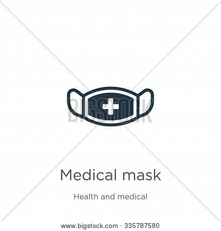 Medical Mask Icon Vector. Trendy Flat Medical Mask Icon From Health And Medical Collection Isolated