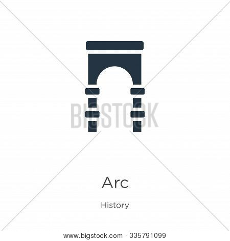Arc Icon Vector. Trendy Flat Arc Icon From History Collection Isolated On White Background. Vector I