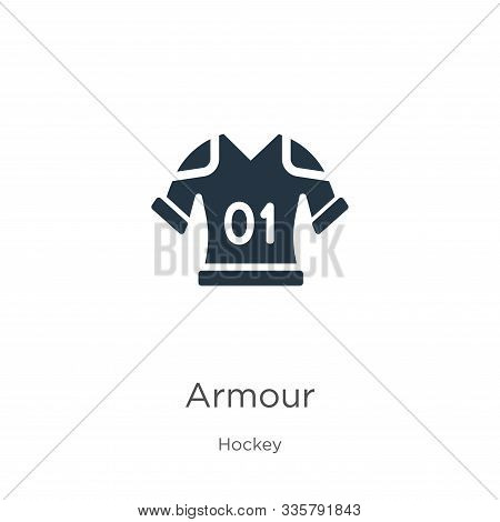 Armour Icon Vector. Trendy Flat Armour Icon From Hockey Collection Isolated On White Background. Vec