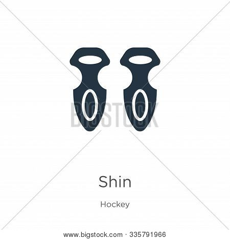 Shin Icon Vector. Trendy Flat Shin Icon From Hockey Collection Isolated On White Background. Vector