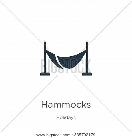 Hammocks Icon Vector. Trendy Flat Hammocks Icon From Holidays Collection Isolated On White Backgroun