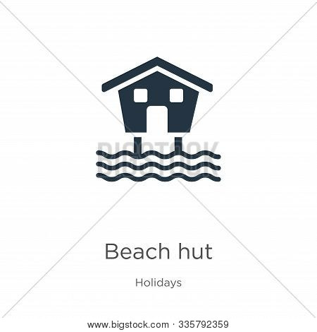 Beach Hut Icon Vector. Trendy Flat Beach Hut Icon From Holidays Collection Isolated On White Backgro