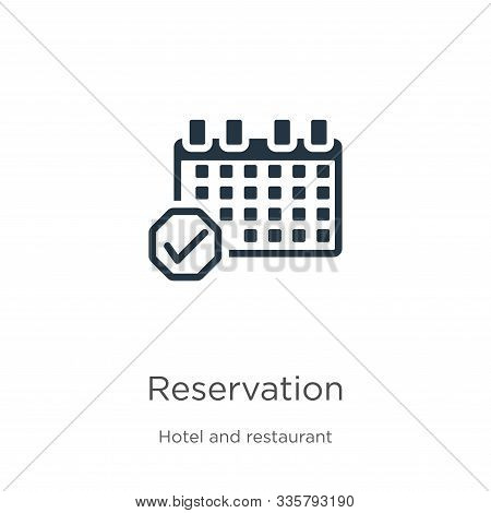 Reservation Icon Vector. Trendy Flat Reservation Icon From Hotel And Restaurant Collection Isolated