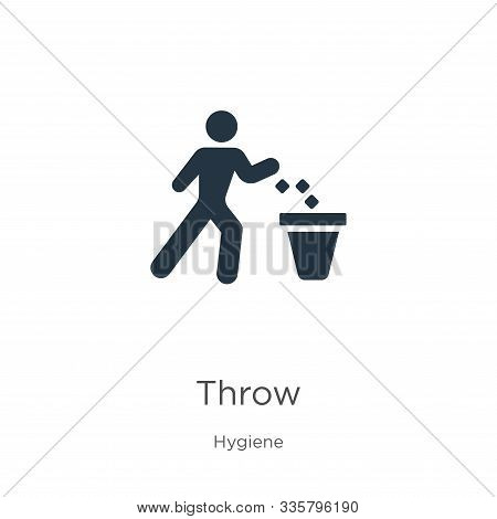 Throw Icon Vector. Trendy Flat Throw Icon From Hygiene Collection Isolated On White Background. Vect
