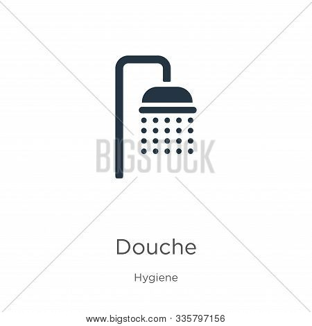 Douche Icon Vector. Trendy Flat Douche Icon From Hygiene Collection Isolated On White Background. Ve
